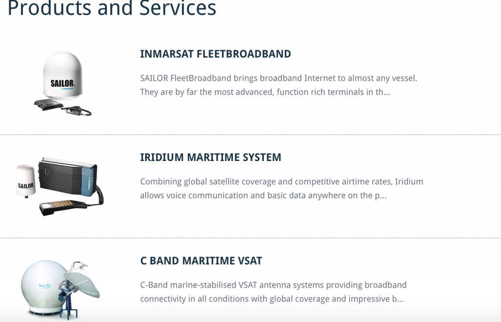 Products and services for marine