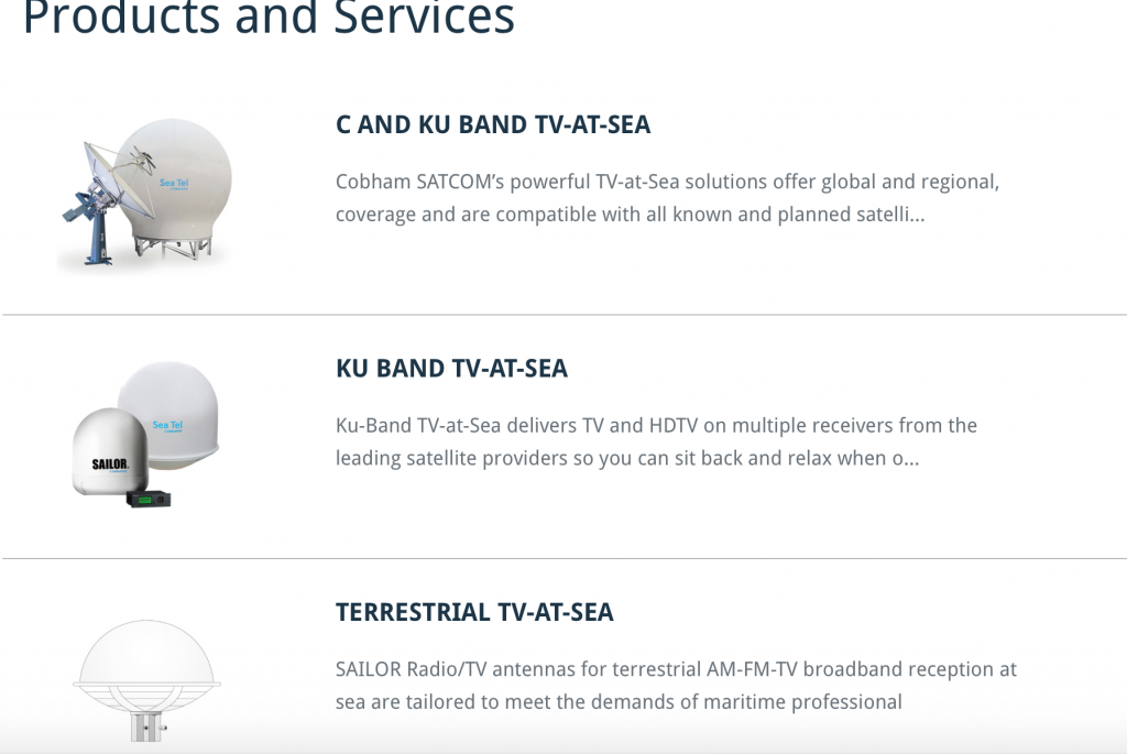 Products for Satellite TV
